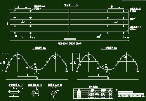 新规范公路波形栏杆cad图
