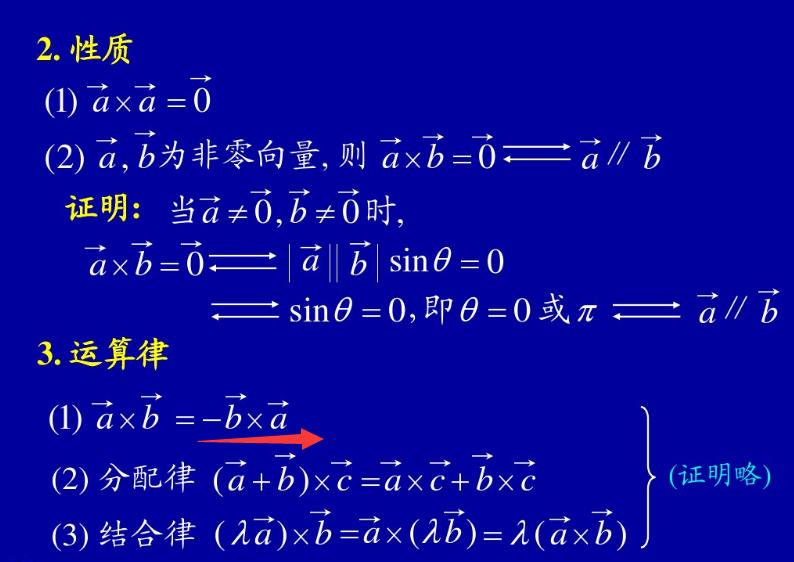 向量的数量积和向量积
