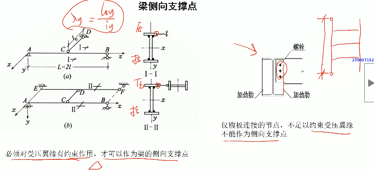 钢结构梁的侧向支撑,平面外计算长度规定