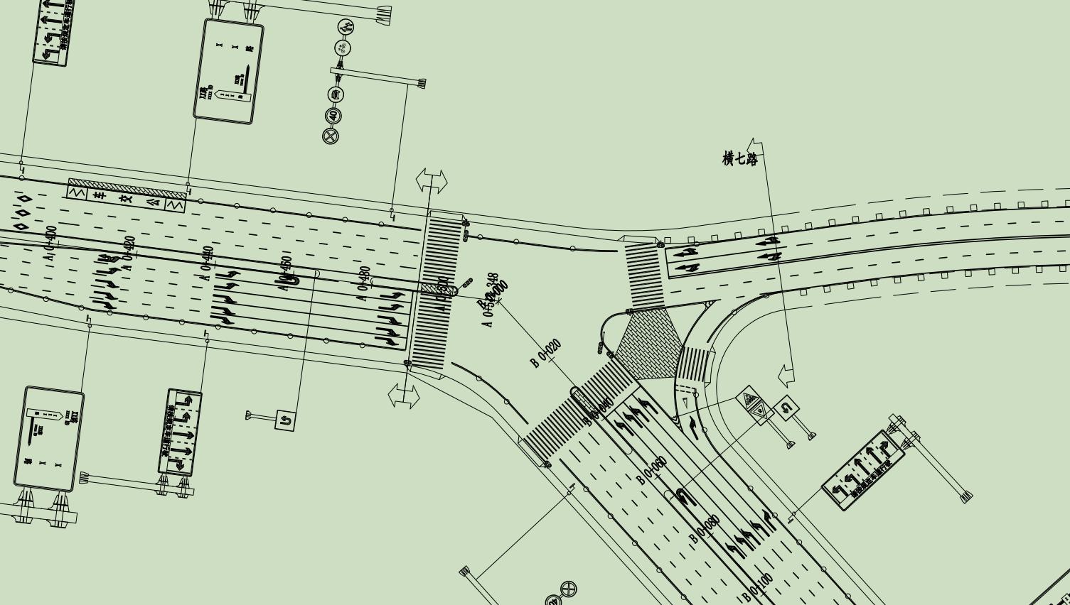 城市道路十字交叉口渠化设计