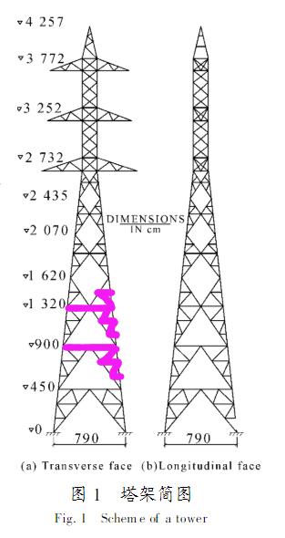 钢结构塔架的基本组成